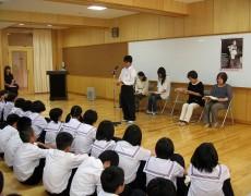 2013年6月28日 明野中学校にて
